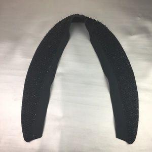 Vintage black beaded attachable collar